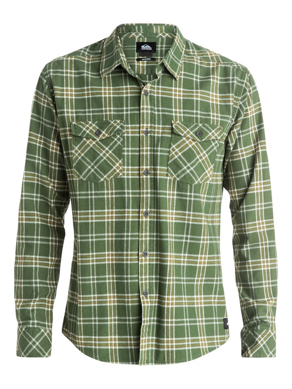 0 Everyday Flannel Long Sleeve Shirt Brown EQYWT03232 Quiksilver