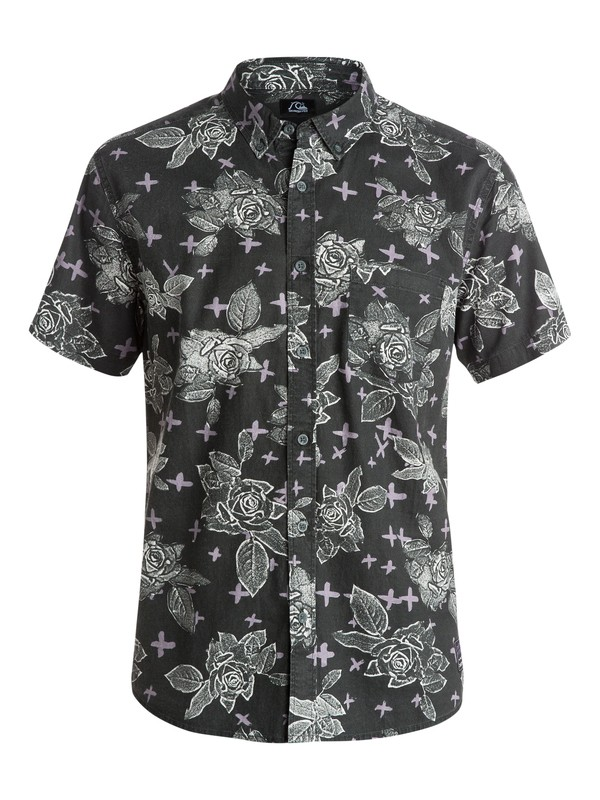 0 Dark Garden Short Sleeve Shirt  EQYWT03259 Quiksilver