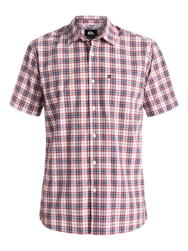 0 Everyday Check - Chemise manches courtes Bleu EQYWT03269 Quiksilver