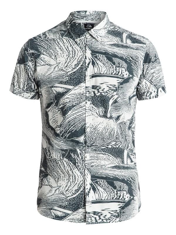 0 Dark Trip Shirt - Chemise manches courtes Blanc EQYWT03281 Quiksilver