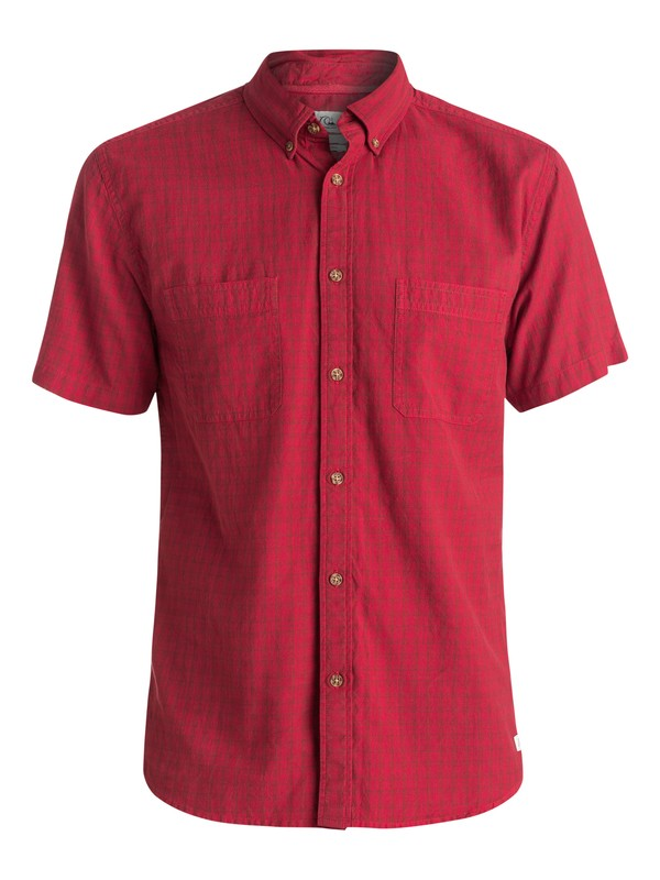 0 Sound Touch - Chemise manches courtes Rouge EQYWT03305 Quiksilver