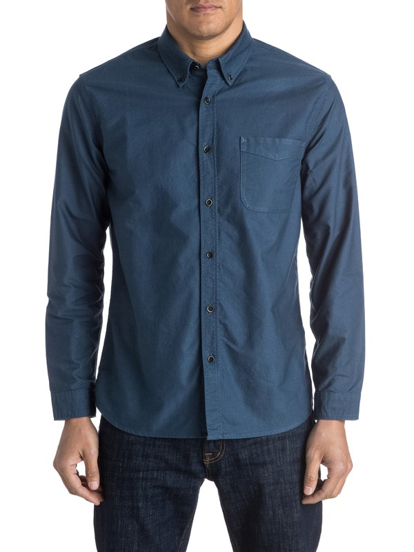 0 The Oxford Long Sleeve Shirt  EQYWT03347 Quiksilver