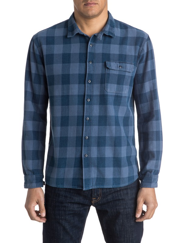 0 The Indigo Check Long Sleeve Shirt  EQYWT03348 Quiksilver