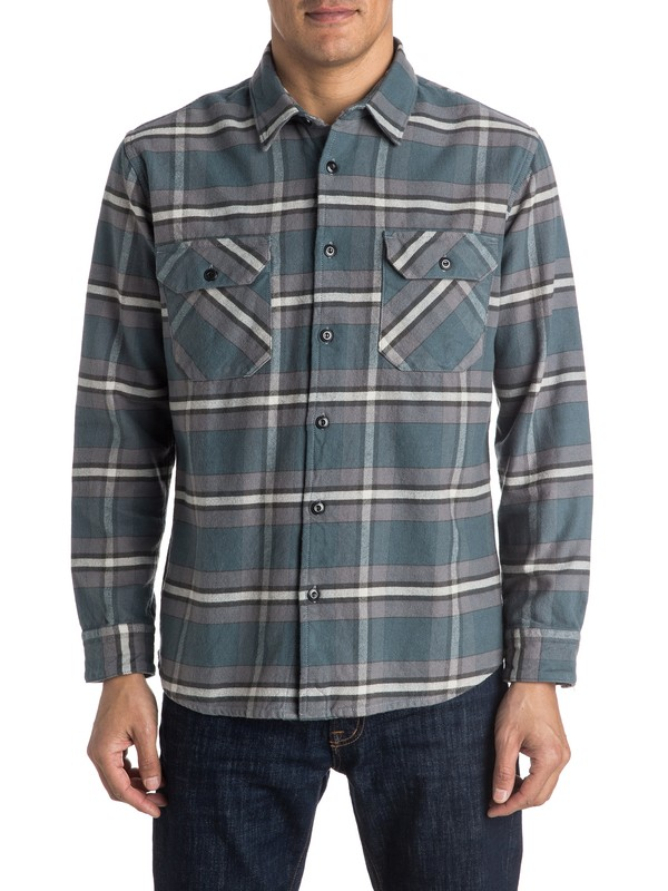 0 Major Counter Flannel Long Sleeve Shirt  EQYWT03351 Quiksilver