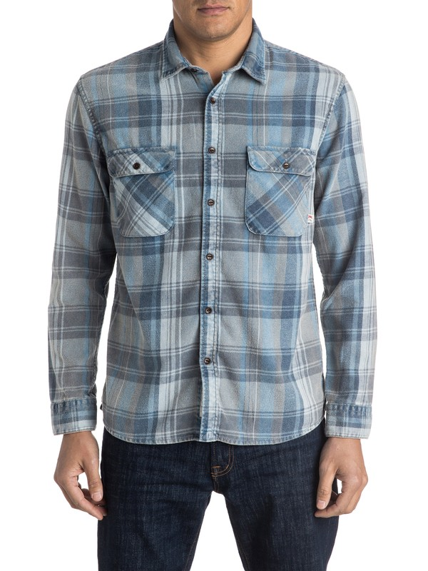 0 Happy Flannel Long Sleeve Shirt  EQYWT03352 Quiksilver