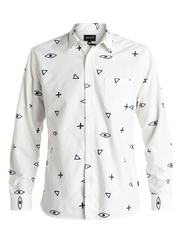 0 Eye For An Eye Flannel - Chemise à manches longues Blanc EQYWT03355 Quiksilver