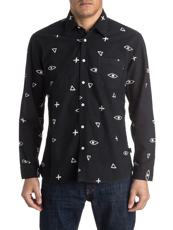 0 Eye For An Eye Flannel Long Sleeve Shirt  EQYWT03355 Quiksilver