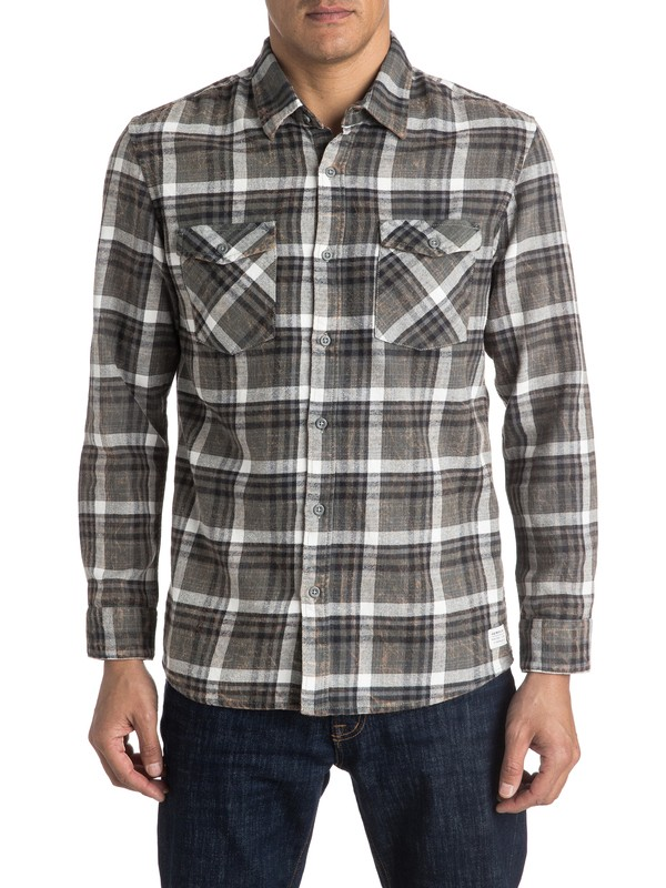 0 Lost Wave Flannel Long Sleeve Shirt  EQYWT03375 Quiksilver