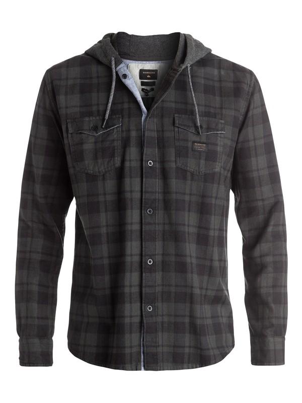 0 Snap Up Flannel - Chemise à manches longues à capuche Noir EQYWT03376 Quiksilver