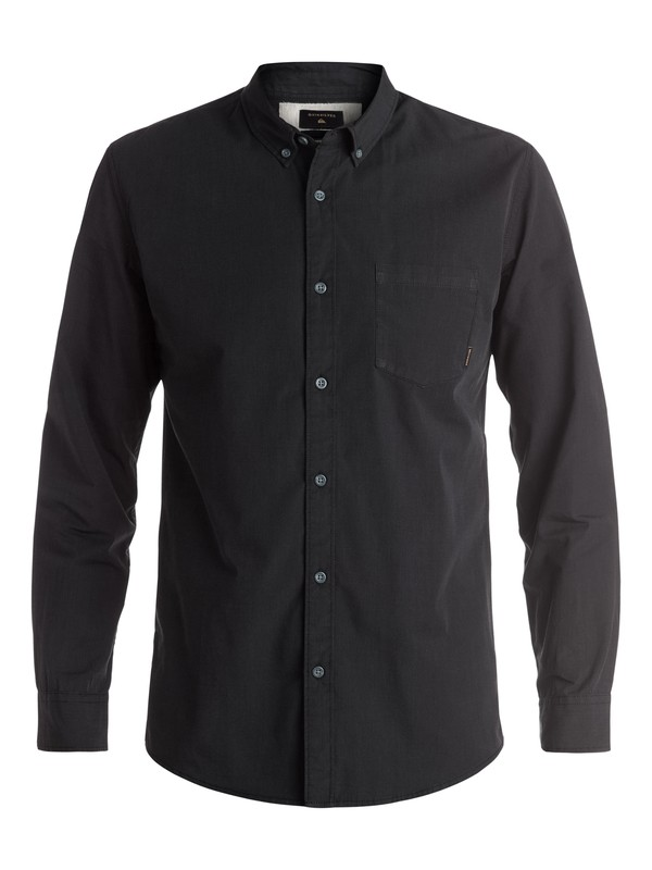 0 Everyday Wilsden Long Sleeve Shirt Black EQYWT03378 Quiksilver