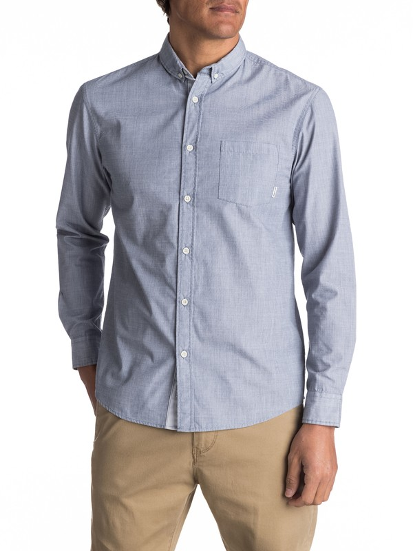 0 Everyday Wilsden Long Sleeve Shirt Blue EQYWT03378 Quiksilver