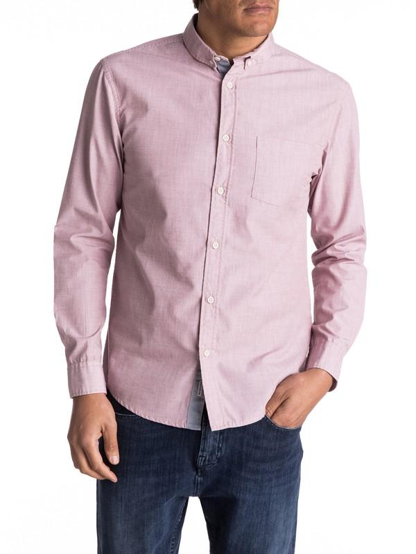 0 Everyday Wilsden Long Sleeve Shirt Brown EQYWT03378 Quiksilver