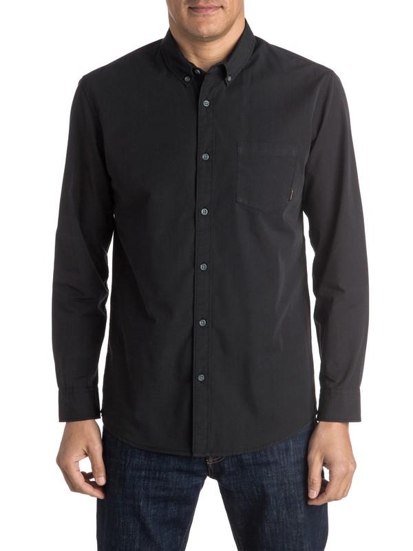 0 Everyday Wilsden Long Sleeve Shirt Black EQYWT03378 Quiksilver