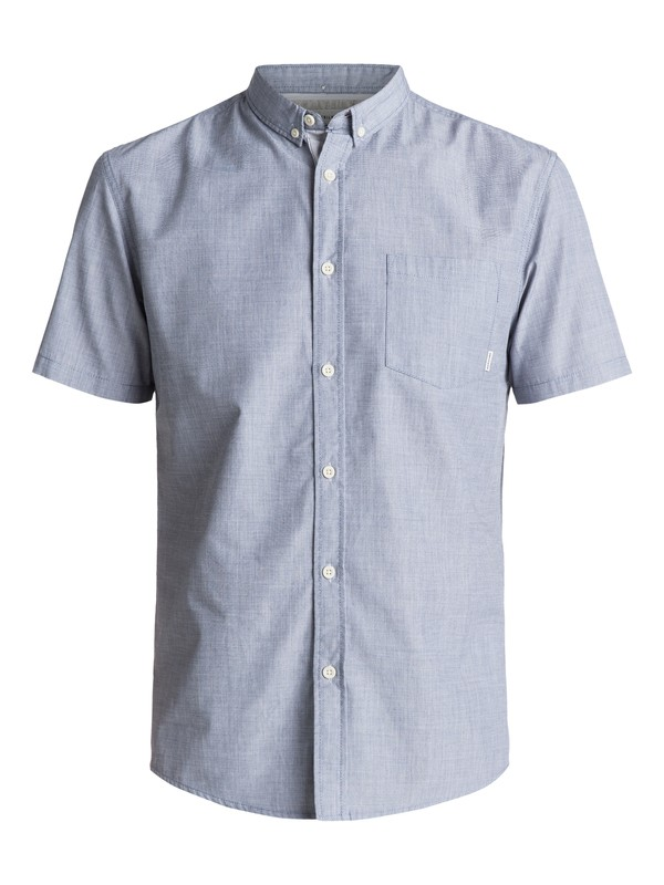 0 Everyday Wilsden Short Sleeve Shirt Blue EQYWT03379 Quiksilver