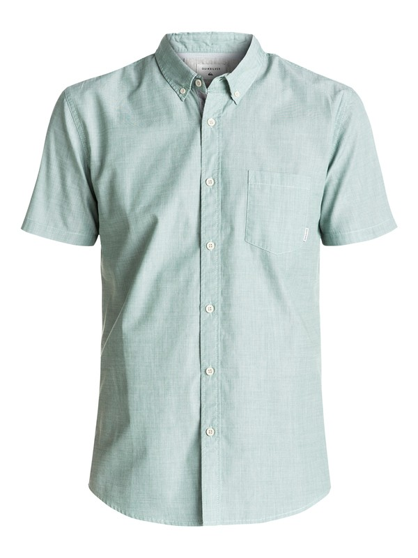 0 Everyday Wilsden Short Sleeve Shirt Green EQYWT03379 Quiksilver