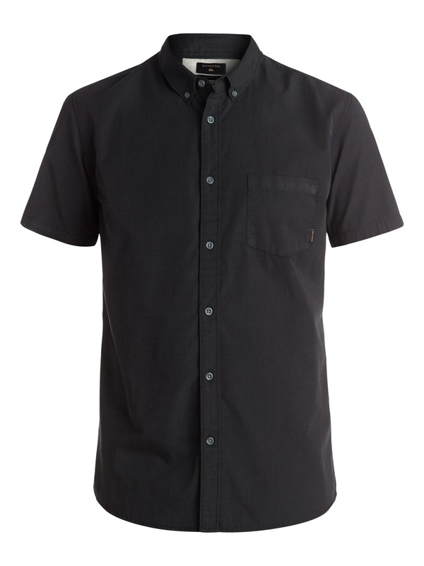 0 Everyday Wilsden Short Sleeve Shirt Black EQYWT03379 Quiksilver