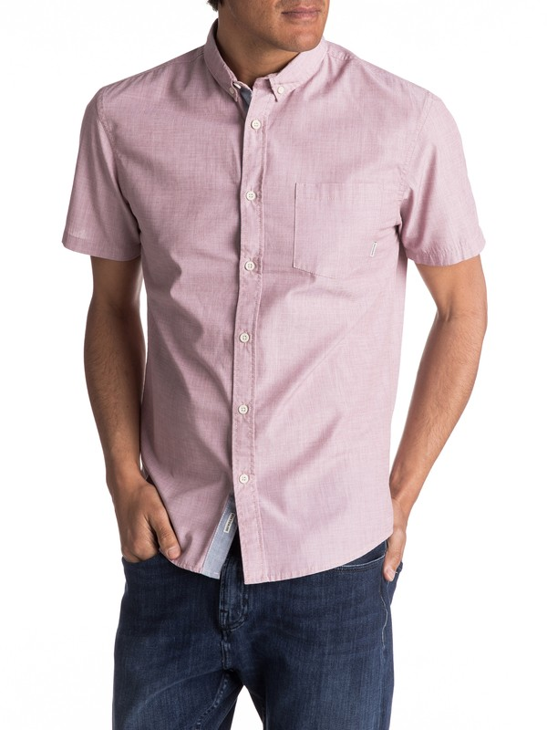 0 Everyday Wilsden Short Sleeve Shirt Brown EQYWT03379 Quiksilver