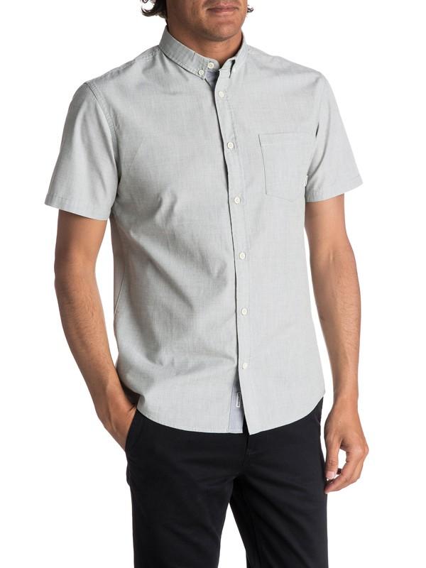 0 Everyday Wilsden Short Sleeve Shirt Green EQYWT03379 Quiksilver
