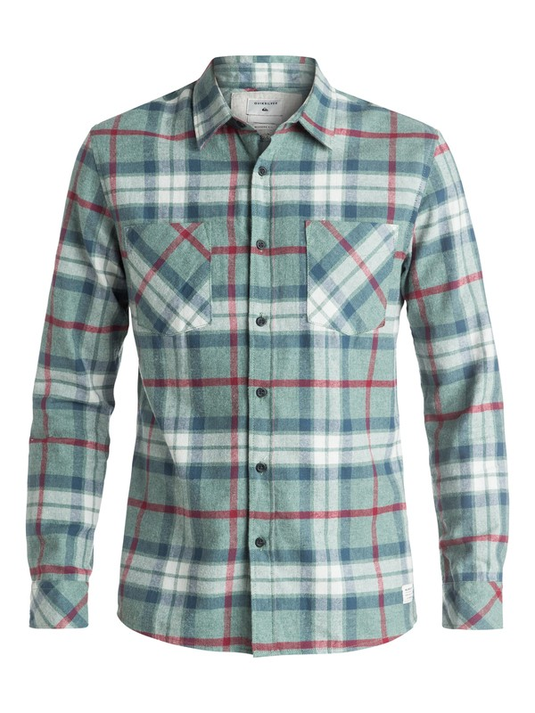 0 Fitzthrower Flannel - Chemise à manches longues Vert EQYWT03380 Quiksilver