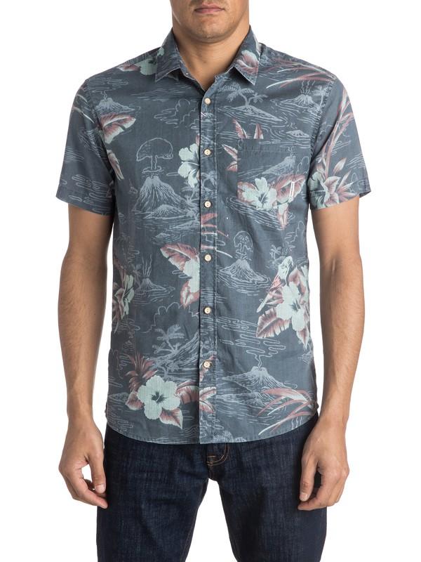 0 Parrot Jungle Short Sleeve Shirt  EQYWT03384 Quiksilver
