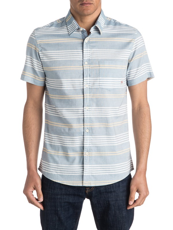 0 The Zip Tie Short Sleeve Shirt  EQYWT03418 Quiksilver