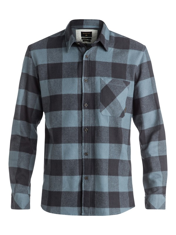 0 Motherfly Flannel Long Sleeve Shirt Black EQYWT03420 Quiksilver