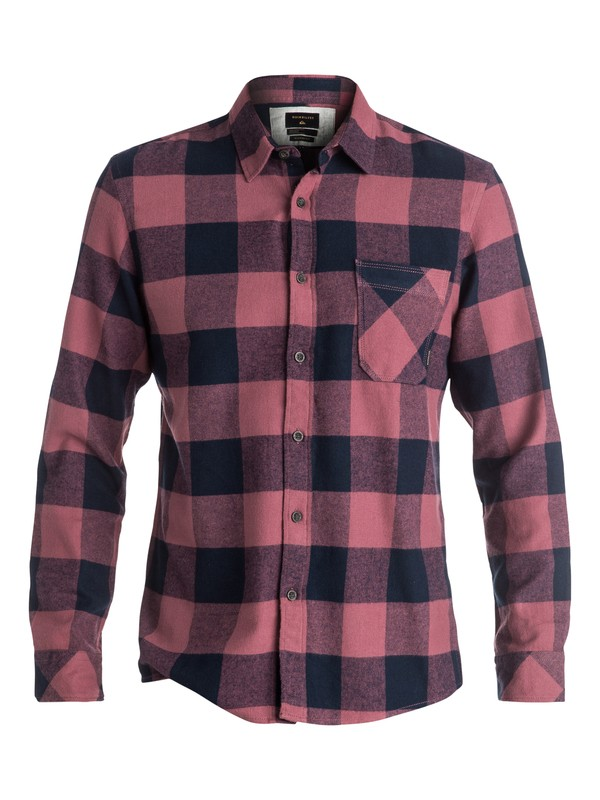 0 Motherfly Flannel Long Sleeve Shirt Red EQYWT03420 Quiksilver