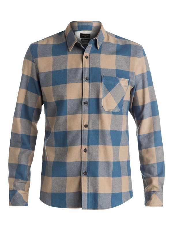 0 Motherfly Flannel Long Sleeve Shirt Beige EQYWT03420 Quiksilver