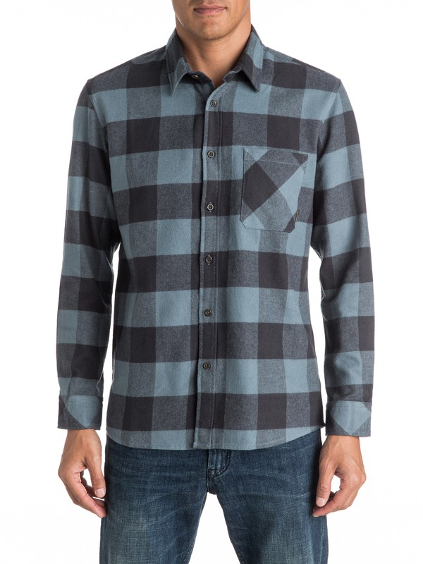 0 Motherfly Flannel Long Sleeve Shirt  EQYWT03420 Quiksilver