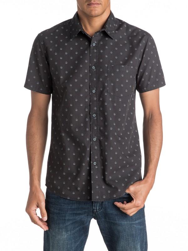0 Everyday Motif Short Sleeve Shirt  EQYWT03446 Quiksilver