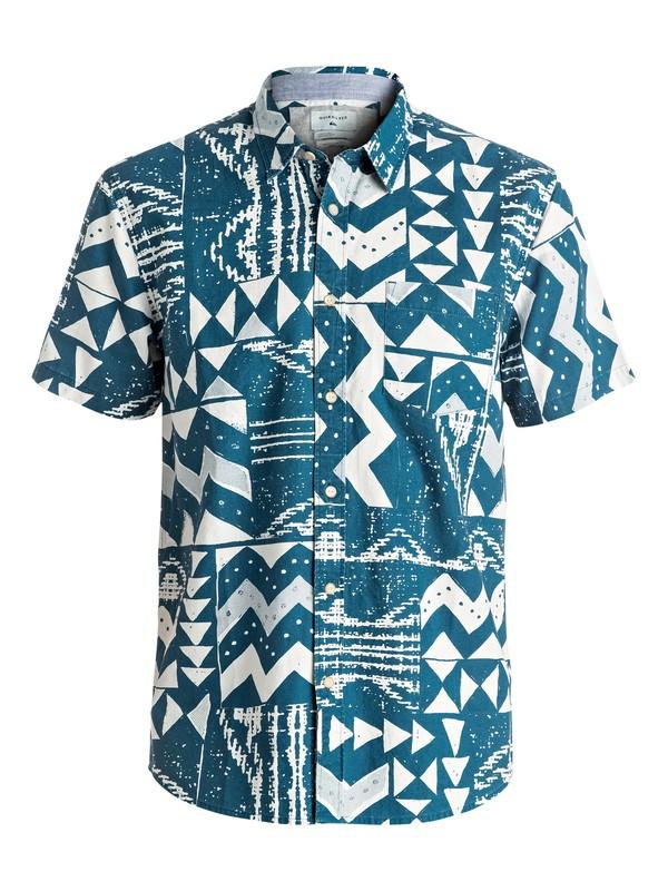 0 East Cape Crowns - Chemise à manches courtes Bleu EQYWT03448 Quiksilver