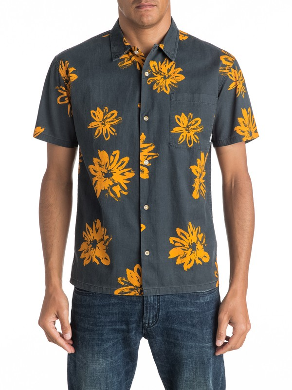 0 South Beach Dimes Short Sleeve Shirt Black EQYWT03457 Quiksilver