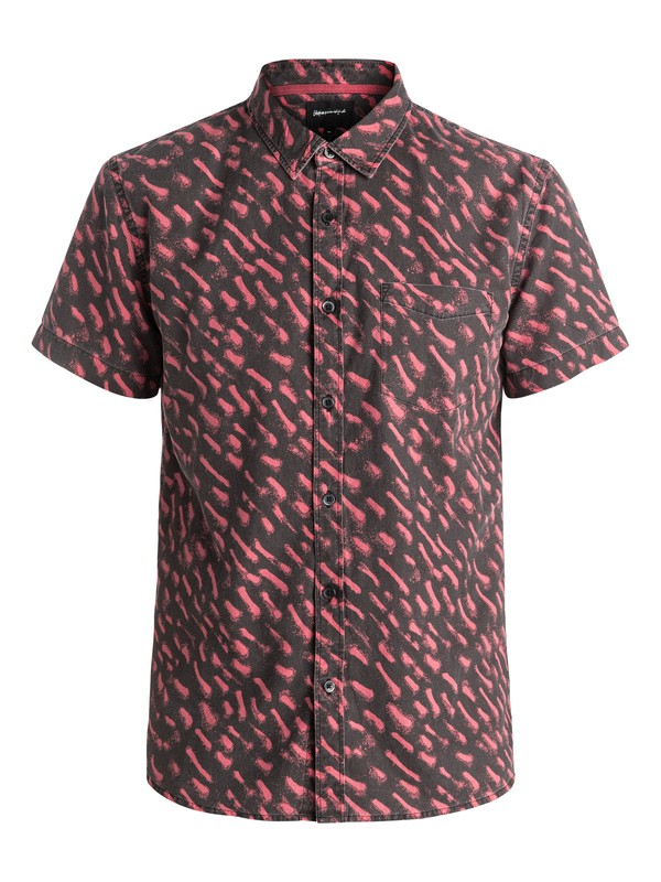 0 Renogade Short Sleeve Shirt Red EQYWT03469 Quiksilver
