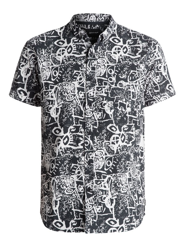 0 Hypnosis Short Sleeve Shirt Black EQYWT03490 Quiksilver