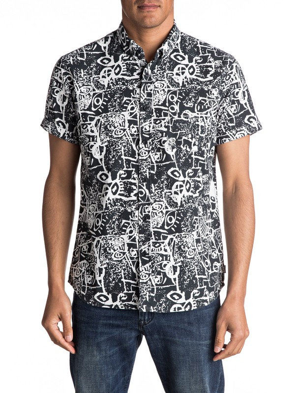 0 Hypnosis Short Sleeve Shirt  EQYWT03490 Quiksilver