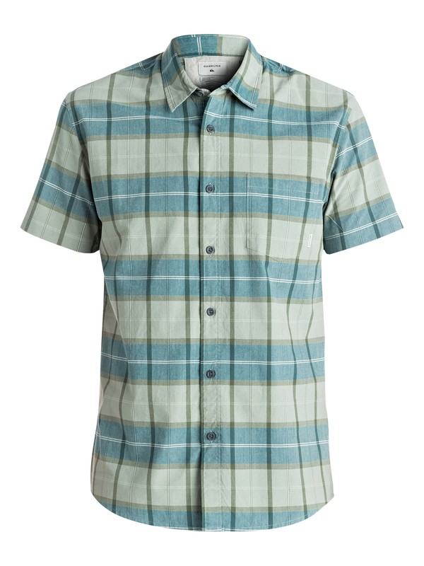 0 Everyday Check Short Sleeve Shirt Green EQYWT03492 Quiksilver