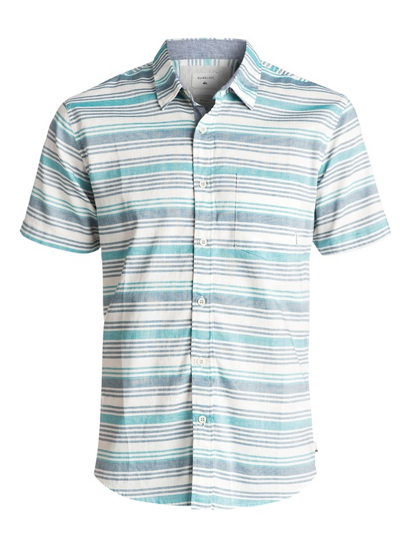 0 Aventail Short Sleeve Shirt Blue EQYWT03497 Quiksilver