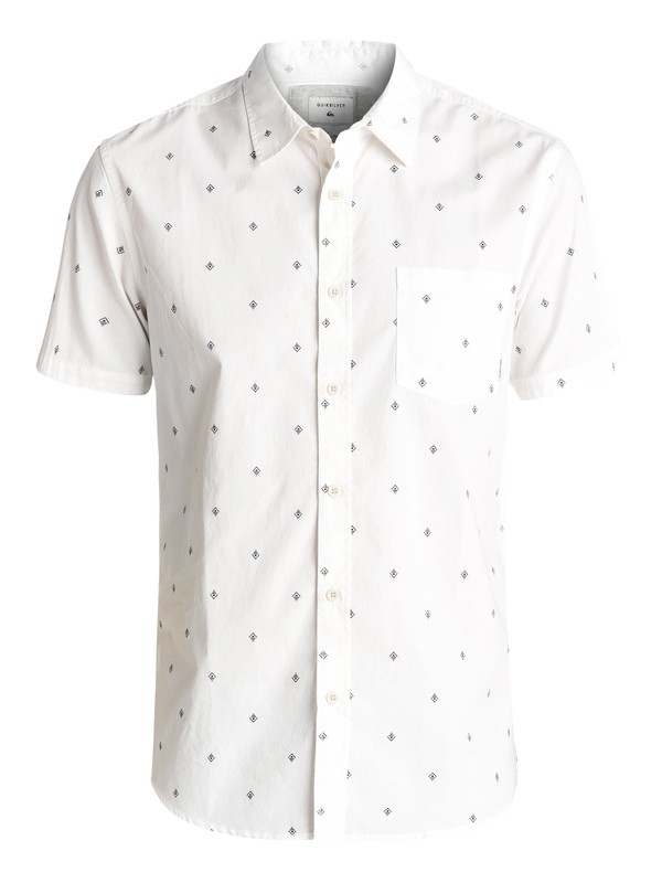 0 Everyday Mini Motif Short Sleeve Shirt White EQYWT03501 Quiksilver