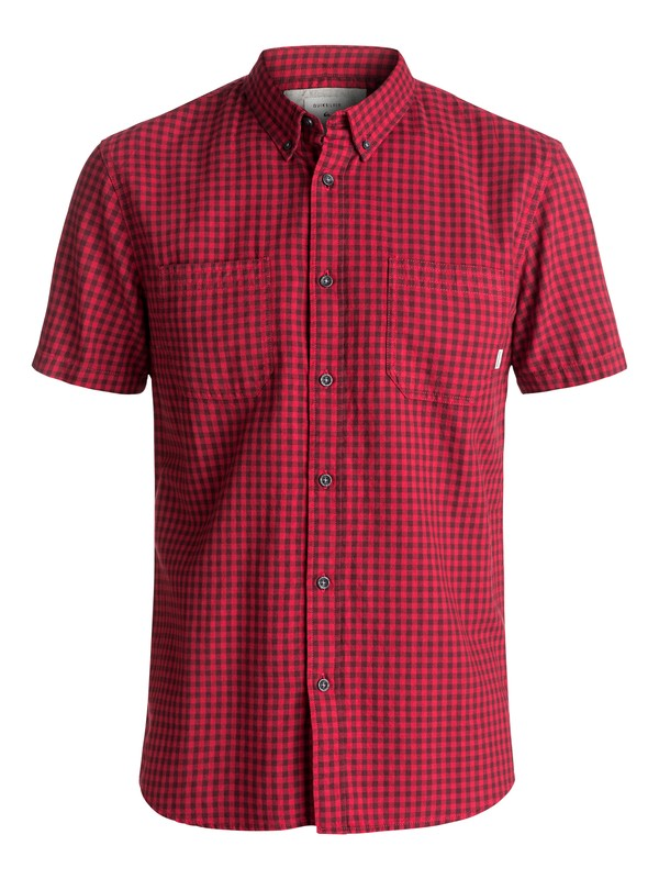 0 Forte Night Short Sleeve Shirt Red EQYWT03502 Quiksilver