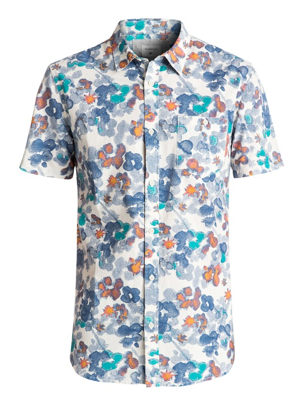 0 Only Flowers Short Sleeve Shirt  EQYWT03507 Quiksilver