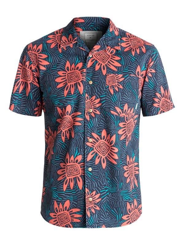 0 Indian Summer Short Sleeve Shirt Orange EQYWT03508 Quiksilver