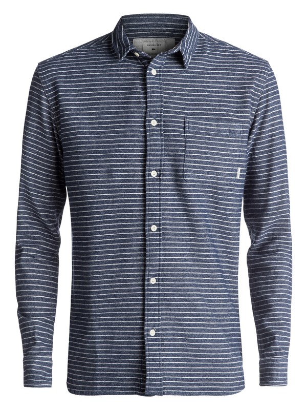 0 Crossed Tide Flannel Long Sleeve Shirt Blue EQYWT03529 Quiksilver
