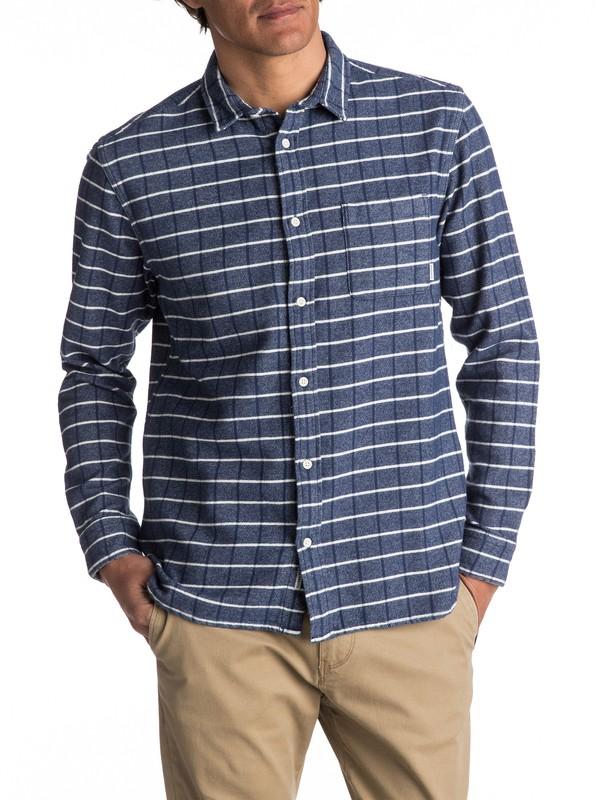 0 Crossed Tide Flannel Long Sleeve Shirt  EQYWT03529 Quiksilver