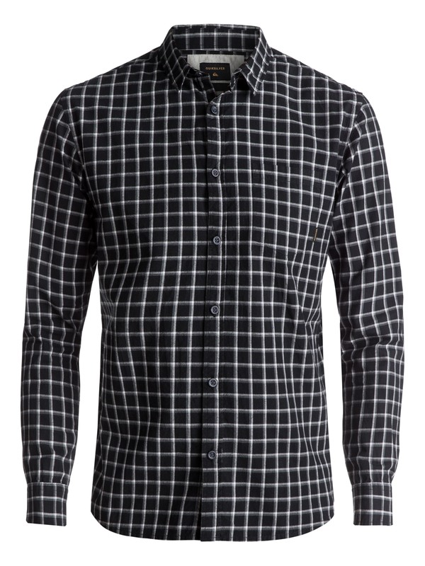 0 Everyday Check Long Sleeve Shirt Black EQYWT03531 Quiksilver