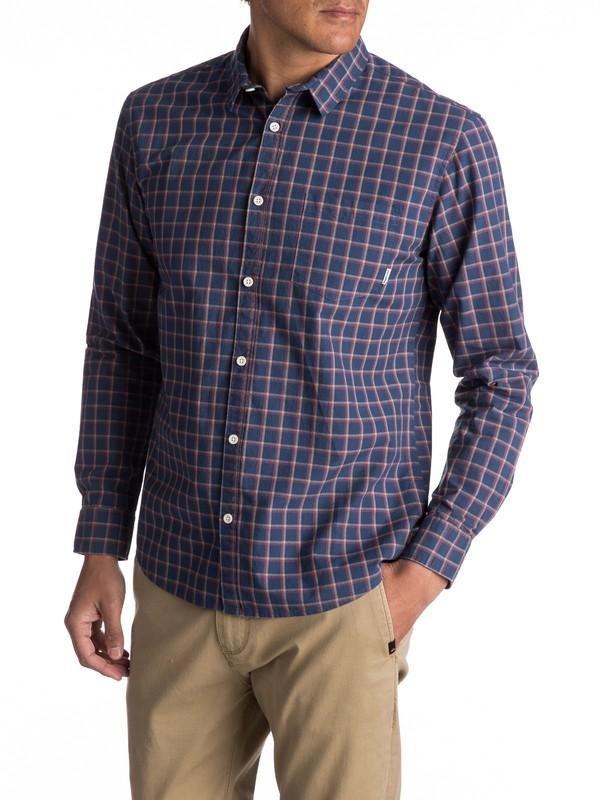 0 Everyday Check Long Sleeve Shirt Blue EQYWT03531 Quiksilver