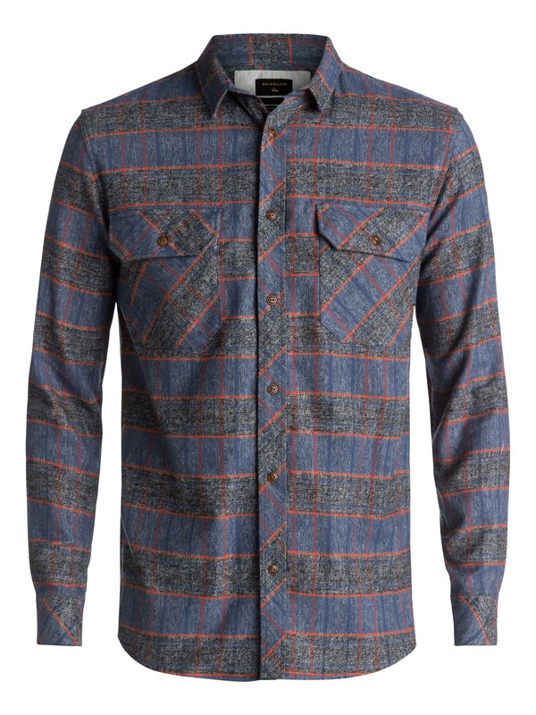 0 River Back Flannel Long Sleeve Shirt Blue EQYWT03532 Quiksilver