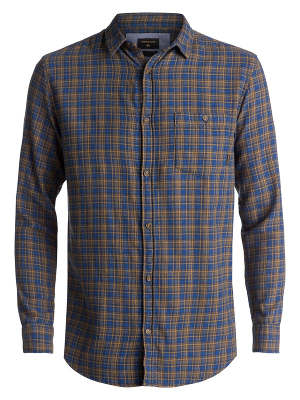 0 Phaser Setting Flannel Long Sleeve Shirt Blue EQYWT03539 Quiksilver
