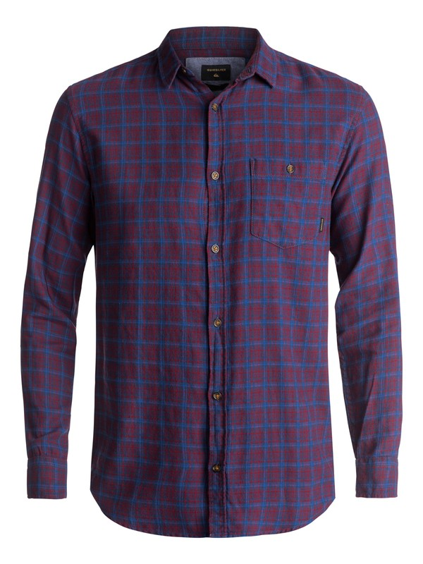 0 Phaser Setting Flannel Long Sleeve Shirt Red EQYWT03539 Quiksilver