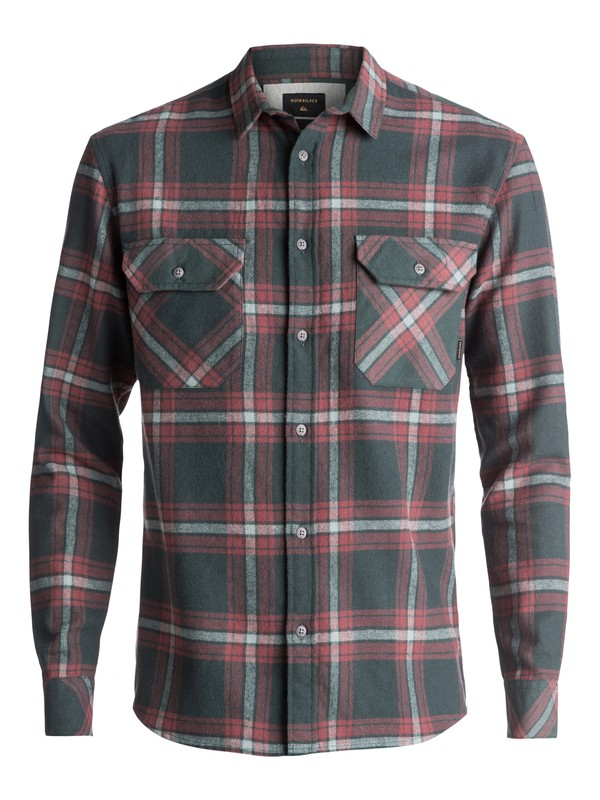 0 Fitz Forktail Flannel Long Sleeve Shirt Brown EQYWT03544 Quiksilver