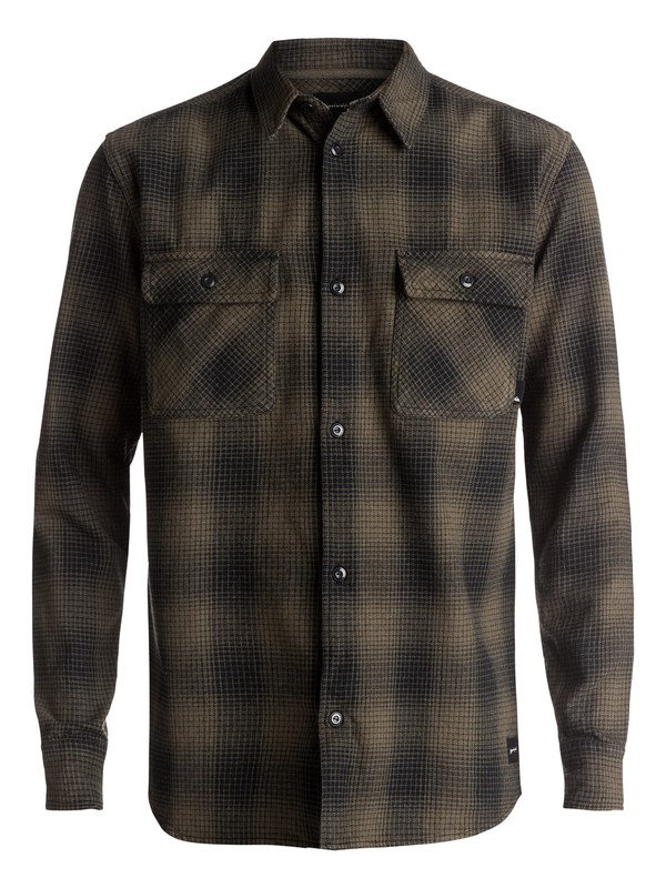 0 Venice Vice Flannel Long Sleeve Shirt Brown EQYWT03546 Quiksilver